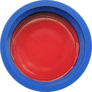 Screw closure, N 9, PP, blue, center hole,PTFE red/Silicone white/PTFE red,1,0 mm