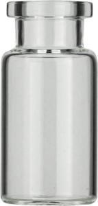 Crimp neck vial, N 20, 22,5×46,0 mm, 10,0 ml, flat bottom, flat neck, clear