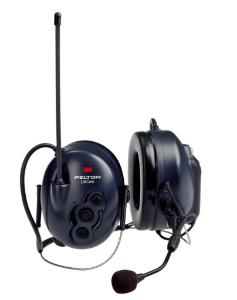 Peltor™ LiteCom two-way headset with J22 audio input, dark blue, neckband